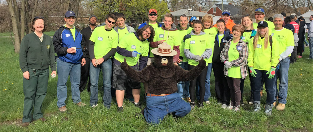 HRC associate outing with smokey the bear