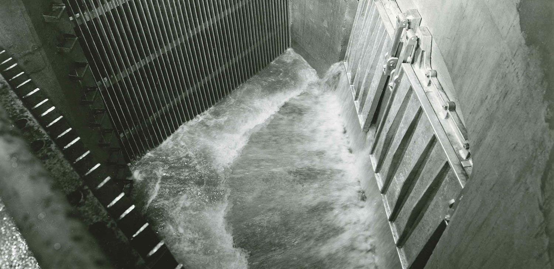 saginaw sewage plant circa 1952