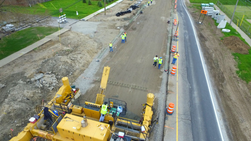 dodge park road reconstruction  by HRC
