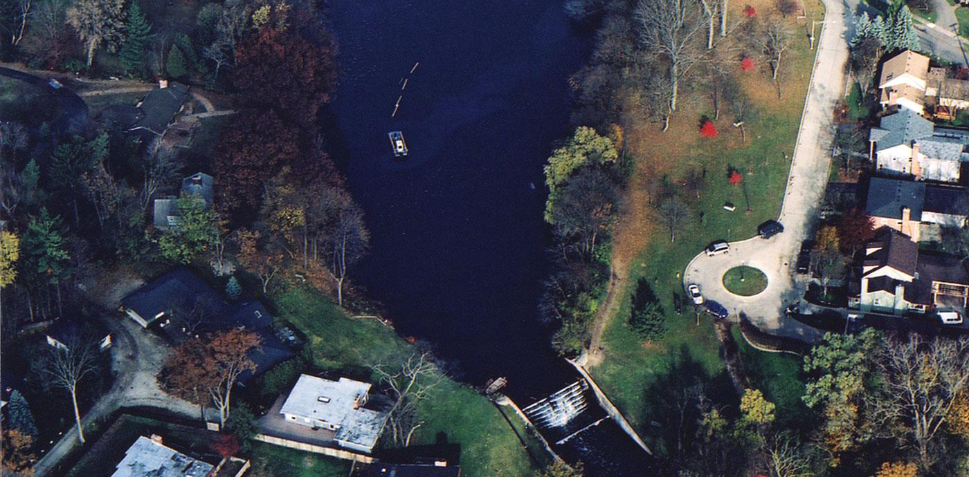 quarton lake bloomfield hills michigan aerial view