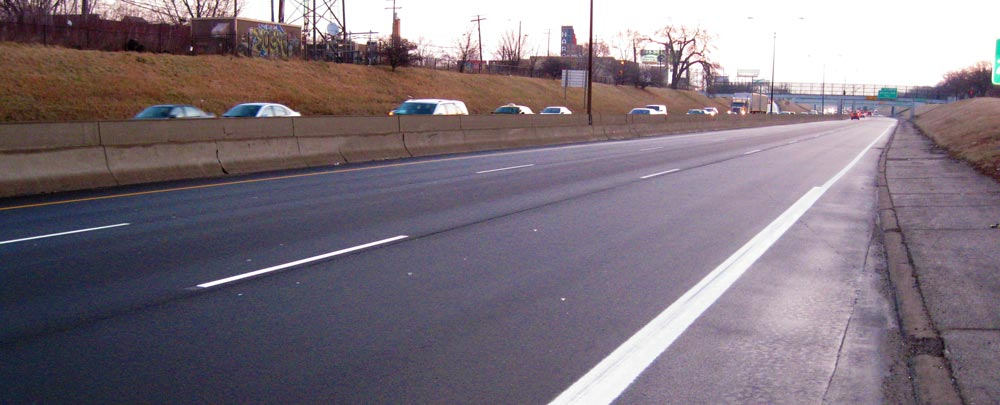 freeway view of resurfacing project by hrc