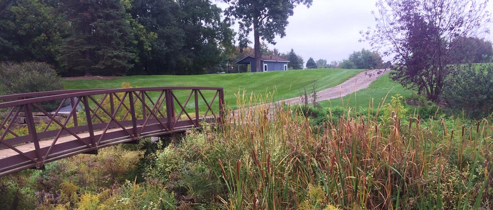 sylvan golf course bridge over stream